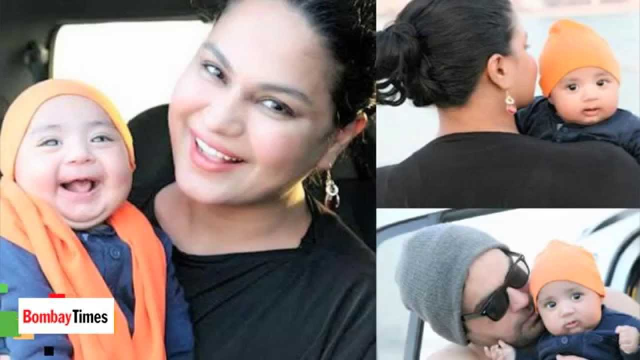 Snapped: Veena Malik at Beach in Dubai With Son Abram ...