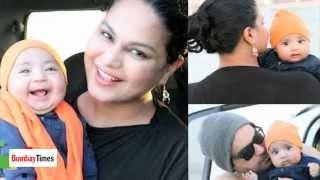 Snapped: Veena Malik at Beach in Dubai With Son Abram, Hubby Asad - BT