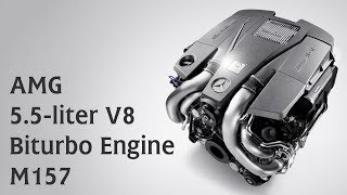 AMG 5.5-liter V8 Biturbo Engine M157
