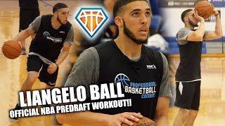 LiAngelo Ball OFFICIAL NBA PreDraft Workout!! | Professional Basketball Combine
