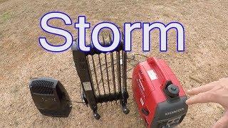 Bad North Carolina Winter Storm!  Heat From A Small Generator..