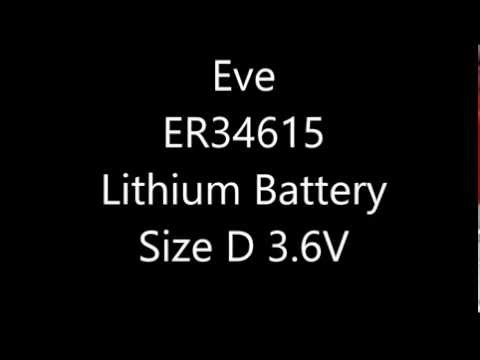 Eve ER34615 D Lithium Battery 3.6V