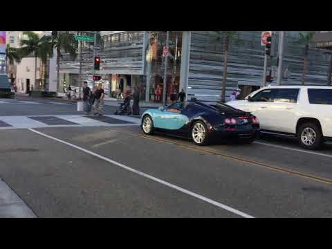 Bugatti on Rodeo dr. Beverly Hills