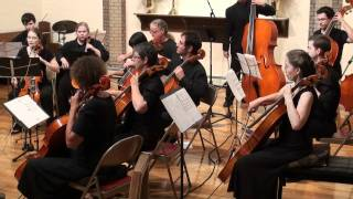 New Violin Family Orchestra Plays Telemann Sinfonia In G (2 Of 3)