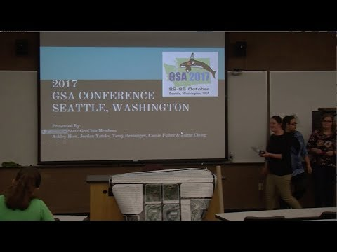Geological Society of America Conference, Seattle, Washington - February 7, 2018