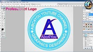 Professional Circle Logo Design Photoshop in Hindi screenshot 4