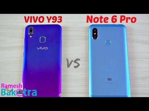 Vivo Y93 vs Redmi Note 6 Pro SpeedTest and Camera Comparison