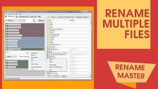 How to Rename many files with Rename Master - tutorial by TechyV