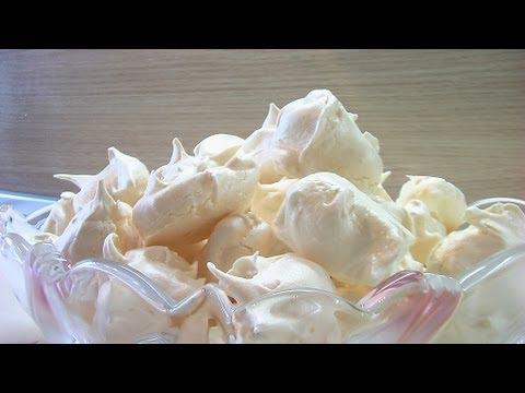 Печенье сбивное или пирожное Безе видео рецепт