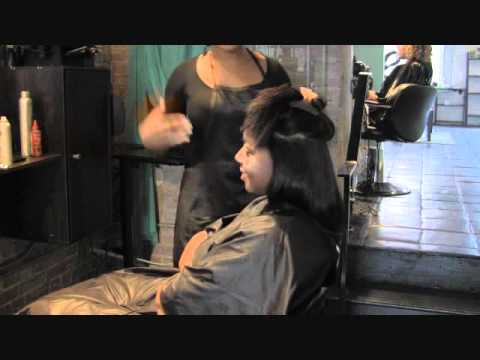 Natural Blow out with Silk Press best Salon in Atlanta