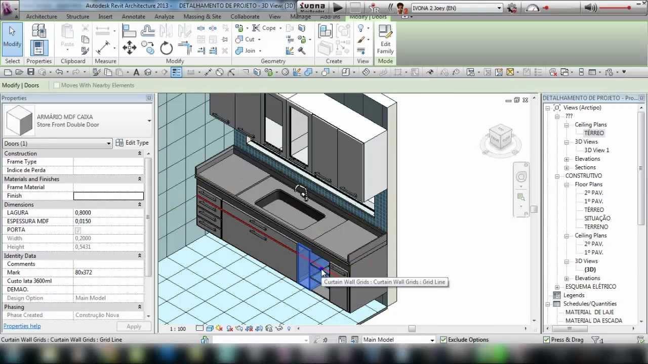 Mveis de Cozinha no Revit  Por Mateus Azevedo  YouTube