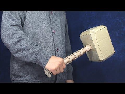 Cardboard Hammer ! Thor Hammer made up from cardboard
