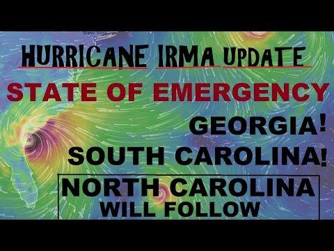 Hurricane IRMA State of Emergency GEORGIA and SOUTH CAROLINA