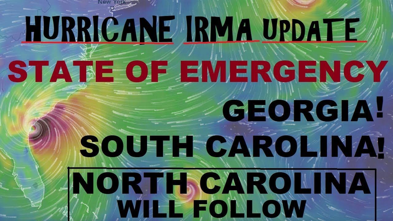 Hurricane Irma State Of Emergency Georgia And South Carolina Youtube