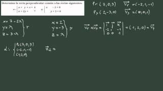 37. Perpendicular común a dos rectas que se cruzan: método constructivo.