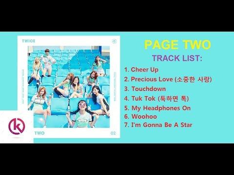 [MINI ALBUM] TWICE 트와이스 - 'Page Two' Second mini album tracklist