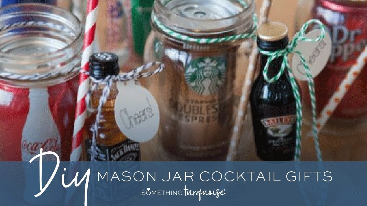 DIY // Cocktail Mason Jar Gifts - so freaking cute! Perfect for bridesmaids and groomsmen or holiday gifts! Find this Pin and more on Mason Jar fun by Kristine Munn.