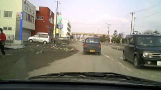 2011年3月13日午前8時頃 八戸市白銀町から築港街経由小中野方面を車載カ...