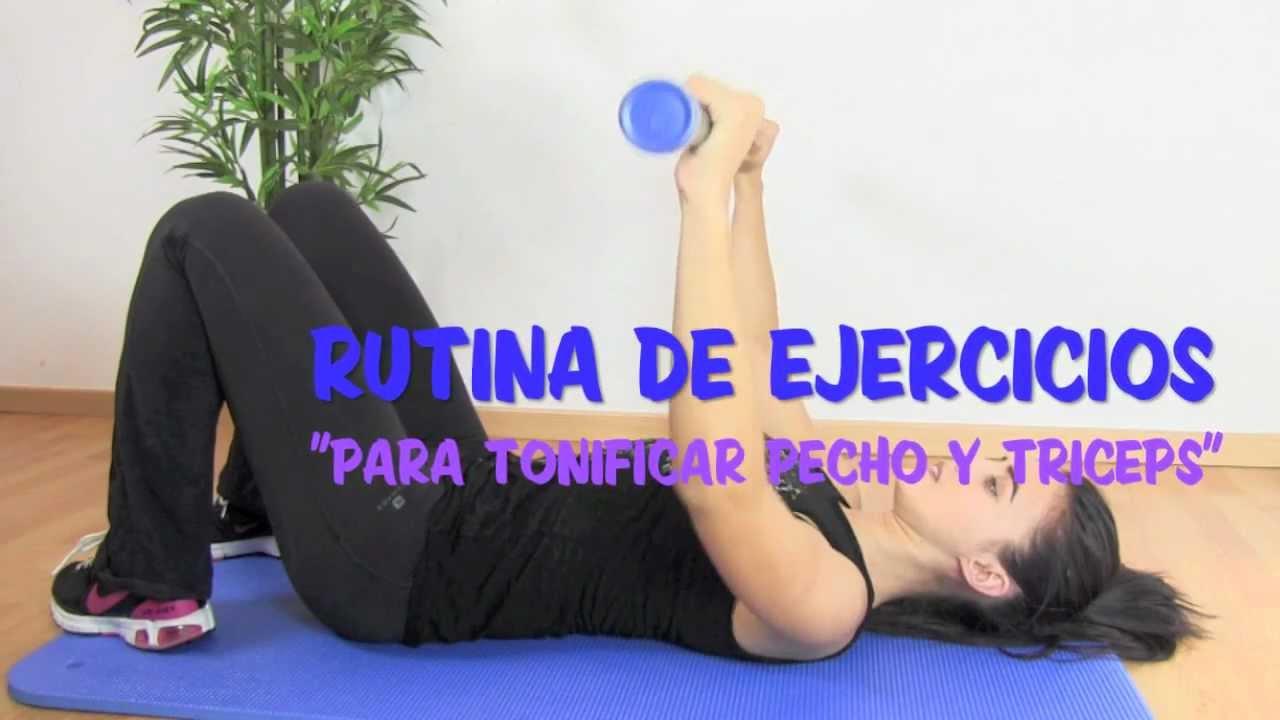 Rutina de ejercicios para pecho y triceps