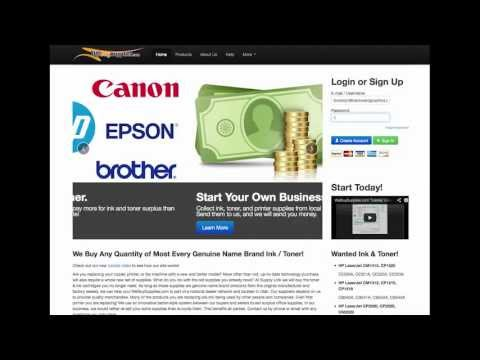 Sell Ink and Toner SellToner.com Tutorial Video
