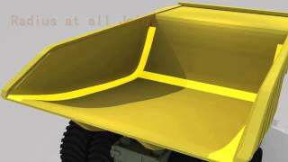 Mining Dump Truck Body, haul truck body, off road truck body, rear dump body, dump truck tray