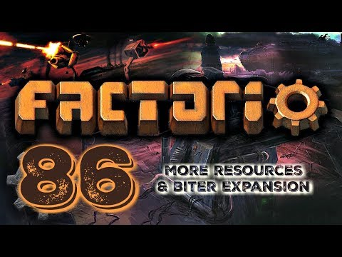 BRANCHING OUT FOR MORE RESOURCES & TURNING BITER EXPANSION ON | Factorio 0.16 #86