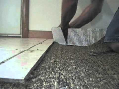 The Best Way To Carpet Crease Cut N Tuck Next To Ceramic