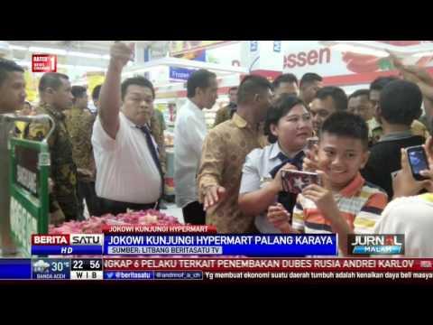 Presiden Jokowi Kunjungi Hypermart di Palangkaraya