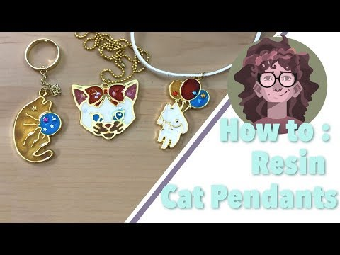 Resin with Me | Cat Open Bezel Pendants