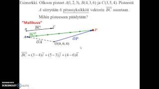 Avaruuden vektorin ominaisuuksia