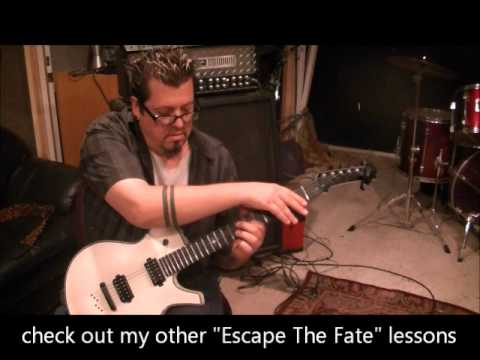 How to play Live Fast Die Beautiful by Escape The Fate on guitar by Mike Gross