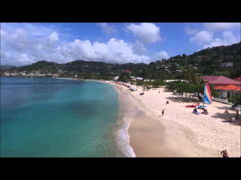Grand Anse Beach Grenada Drone Footage