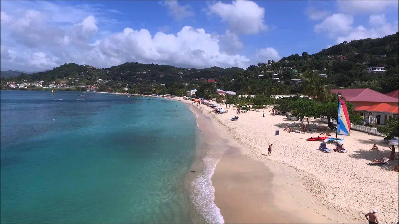 Grand Anse Beach Grenada Drone Footage