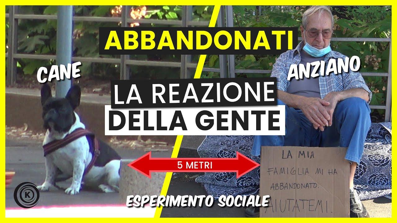 Cane Vs Anziano Abbandonati - Esperimento Sociale - Kiko.Co