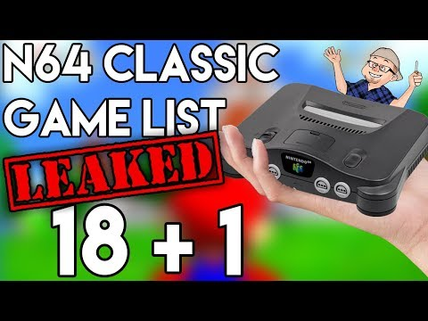 LEAKED list of games on N64 Classic Edition - Nintendo 64 - RIGGS