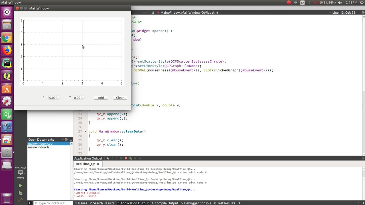 Qt C++ 09 QCustomPlot Add Point with Mouse Click