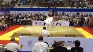 0619 Выступление Сергея Соколовского на чемпионате мира по сумо в Монголии