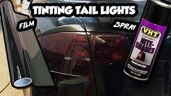 How To Tint Tail Lights - Film vs. Spray