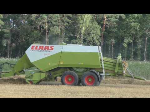 Weizenernte XXXL  2017 Quaderballenpresse im Einsatz   Strohpressen John Deere 6920 und