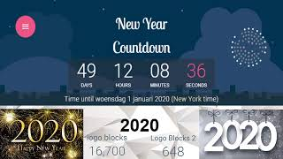 2020 live countdown & happy new year