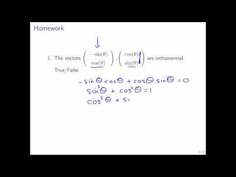11.3.2 Orthonormal Vectors Part 2