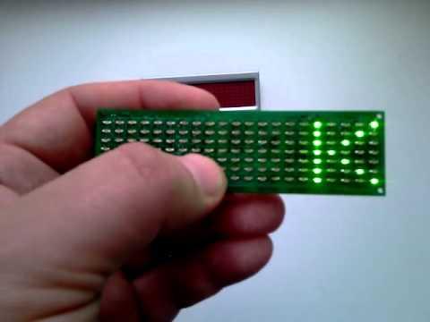 scroling LED badge