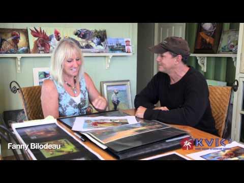 Chicken Painter Fanny Bilodeau Interviewed by Patrick Ching - KVIC-TV, myKauai.com