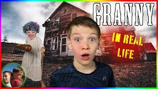 Granny Horror Game In Real Life! Steel Kids Family Escape!