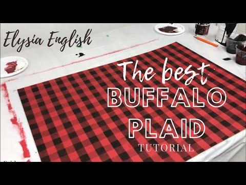 How To Paint Buffalo Plaid | DIY Buffalo Plaid | Buffalo Check Tutorial