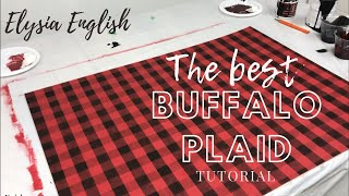 How To Paint Buffalo Plaid | DIY Buffalo Plaid | Buffalo Plaid Tutorial