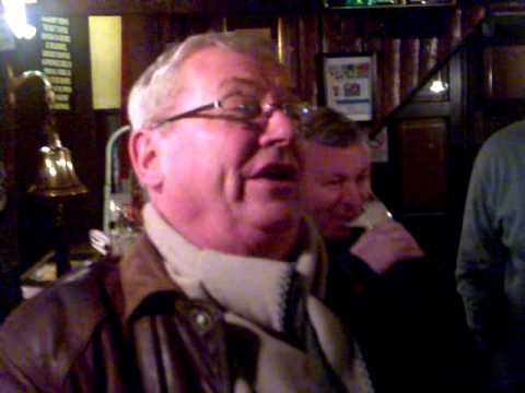 "wee mervyn sings, ""GORDY THE BALLIX"" at grace neils donaghadee"