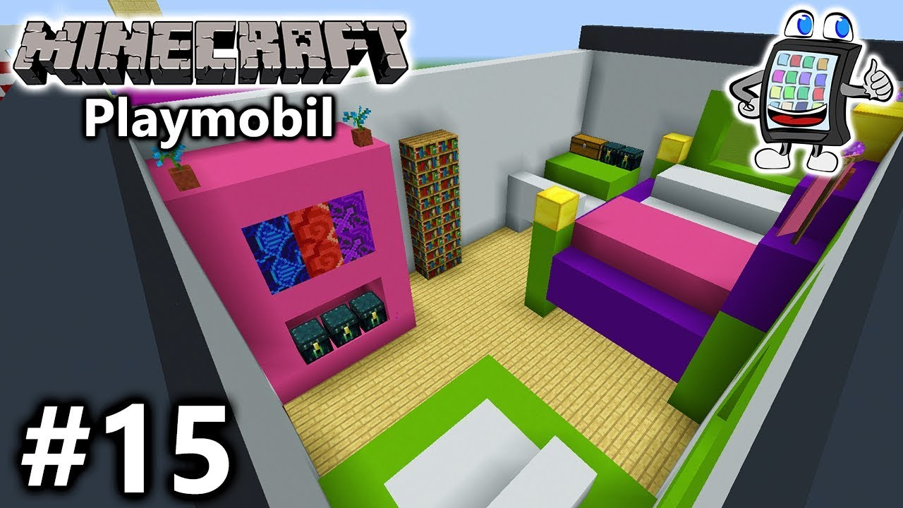 Minecraft playmobil luxusvilla bauen 15 emmas neues for Minecraft kinderzimmer