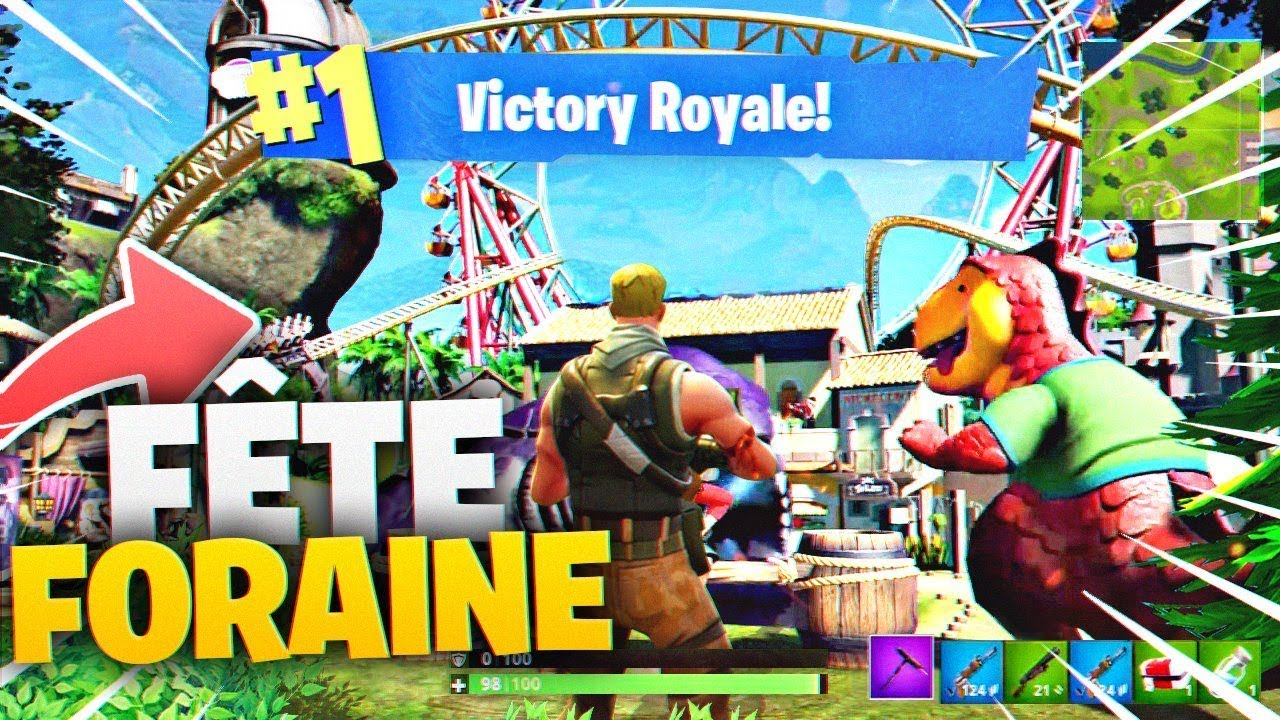 🔥FORTNITE À LA FÊTE FORAINE = JE CRAQUE TOTAL! Game Troll