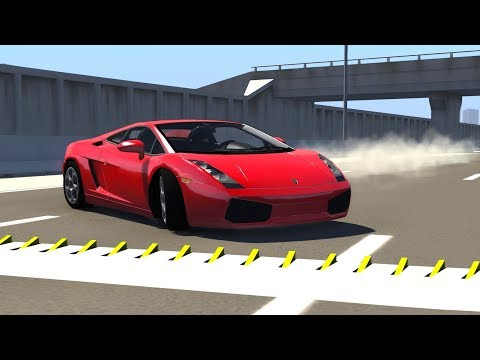 SPIKE STRIPS HIGH SPEED CRASHES #12 - BeamNG Drive
